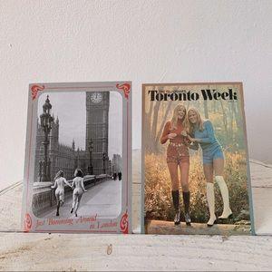 💌 2pk Vintage Femme postcards